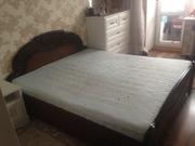 Продается кровать двуспальная с матрасом,  б/у в хорошем состоянии