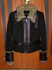 Продаётся натуральная коротенькая дубленка с мехом волка.